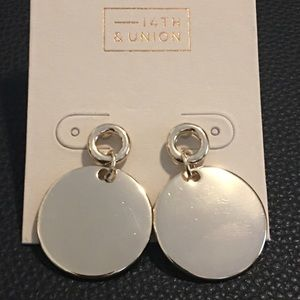 14th & Union ~ Gold Tone Earrings